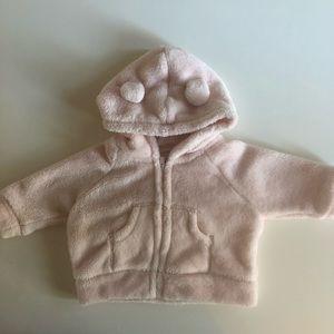 Pink Plush Bear Hoodie   Baby Gap   0-3 Months